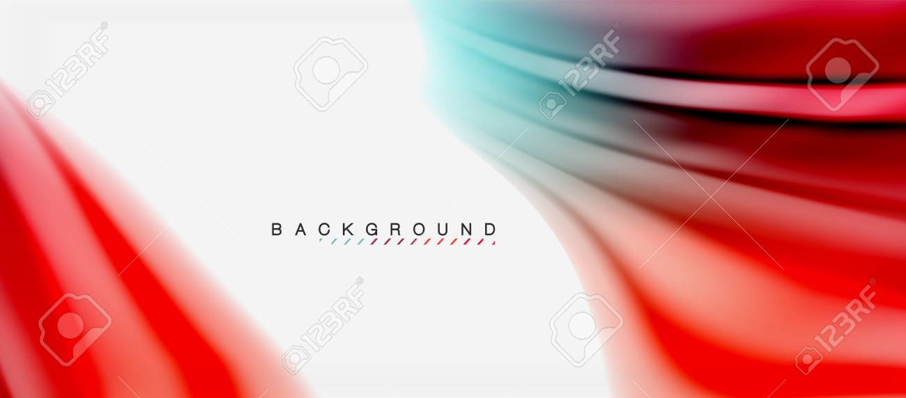 Blurred fluid colors background, abstract waves lines, vector illustration - 101285995