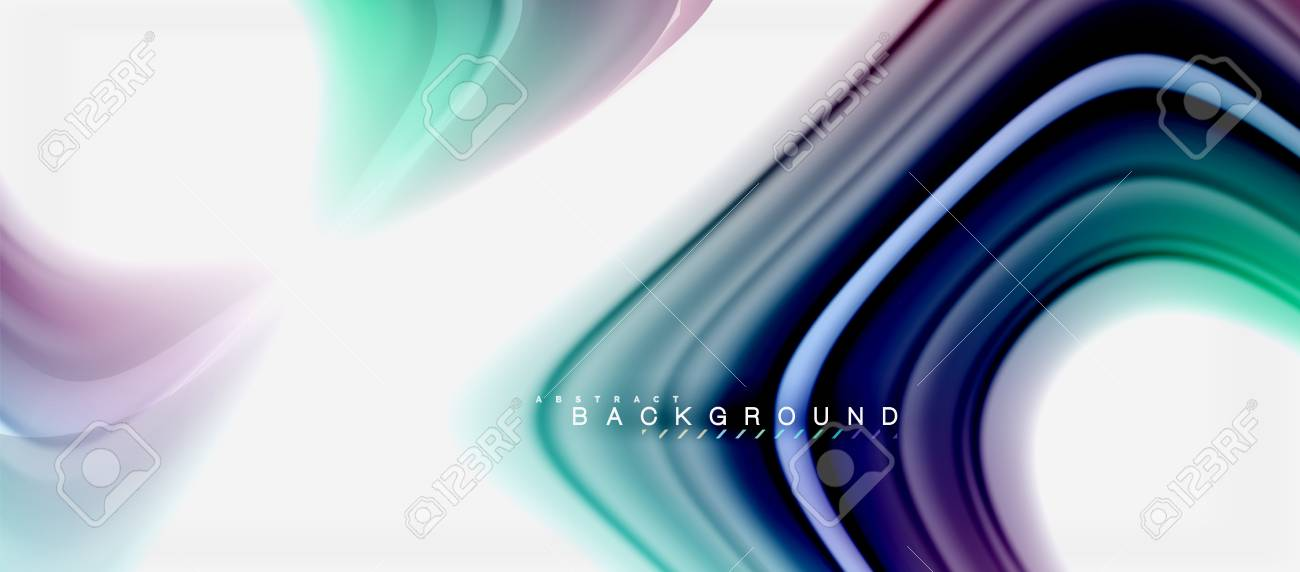 Rainbow Fluid Colors Abstract Background Twisted Liquid Design Colorful Marble Or Plastic Wavy Texture Backdrop Multicolored Template For Business
