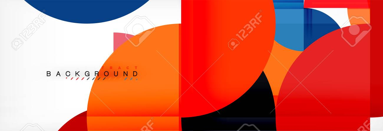 Semi circle abstract background, modern geometric pattern design. Vector business or technology presentation design template, brochure or flyer pattern, or geometric web banner - 111824761