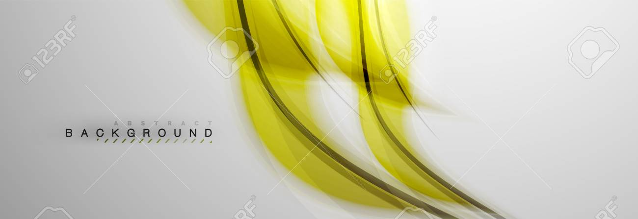 Smooth Blur Wave Background Color Flow Concept On Grey Vector
