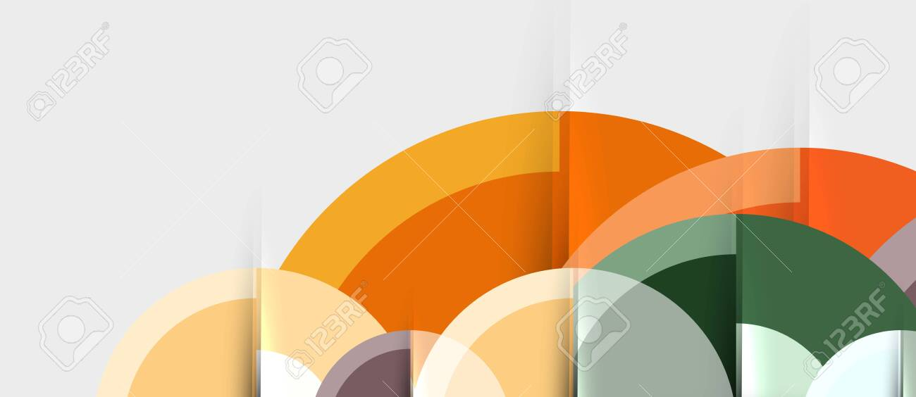 Circular geometrical design template - 124019969