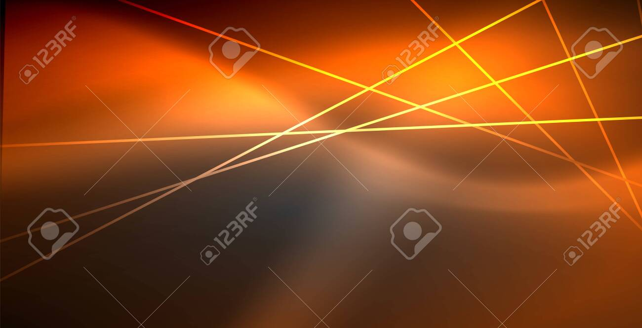 Neon Glowing Lines Magic Energy Space Light Concept Abstract Background Wallpaper Design