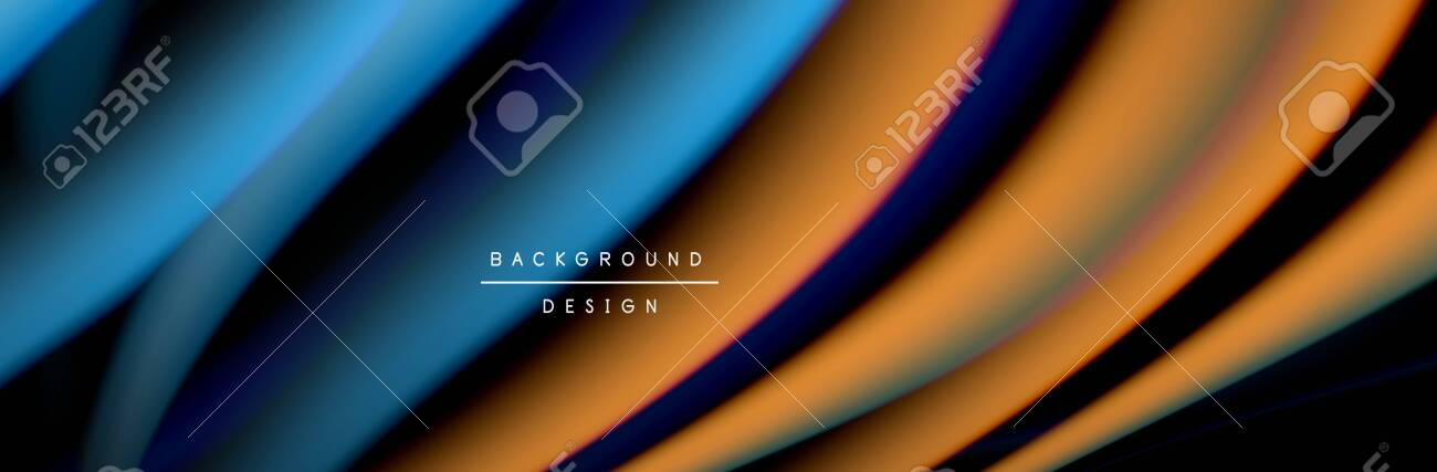 Colorful Flow Poster Wave Liquid Lines And Shapes In Black Color Royalty Free Cliparts Vectors And Stock Illustration Image 143710197