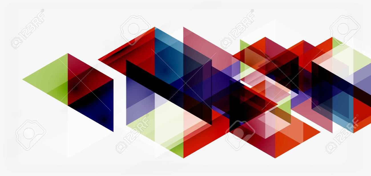 Geometric abstract background, mosaic triangle and hexagon shapes. Trendy abstract layout template for business or technology presentation, internet poster or web brochure cover, wallpaper - 148076379