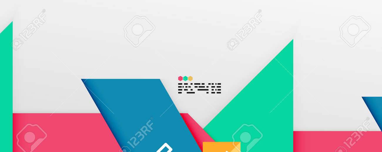 Shiny color triangles and geometric shapes vector abstract background - 167355968