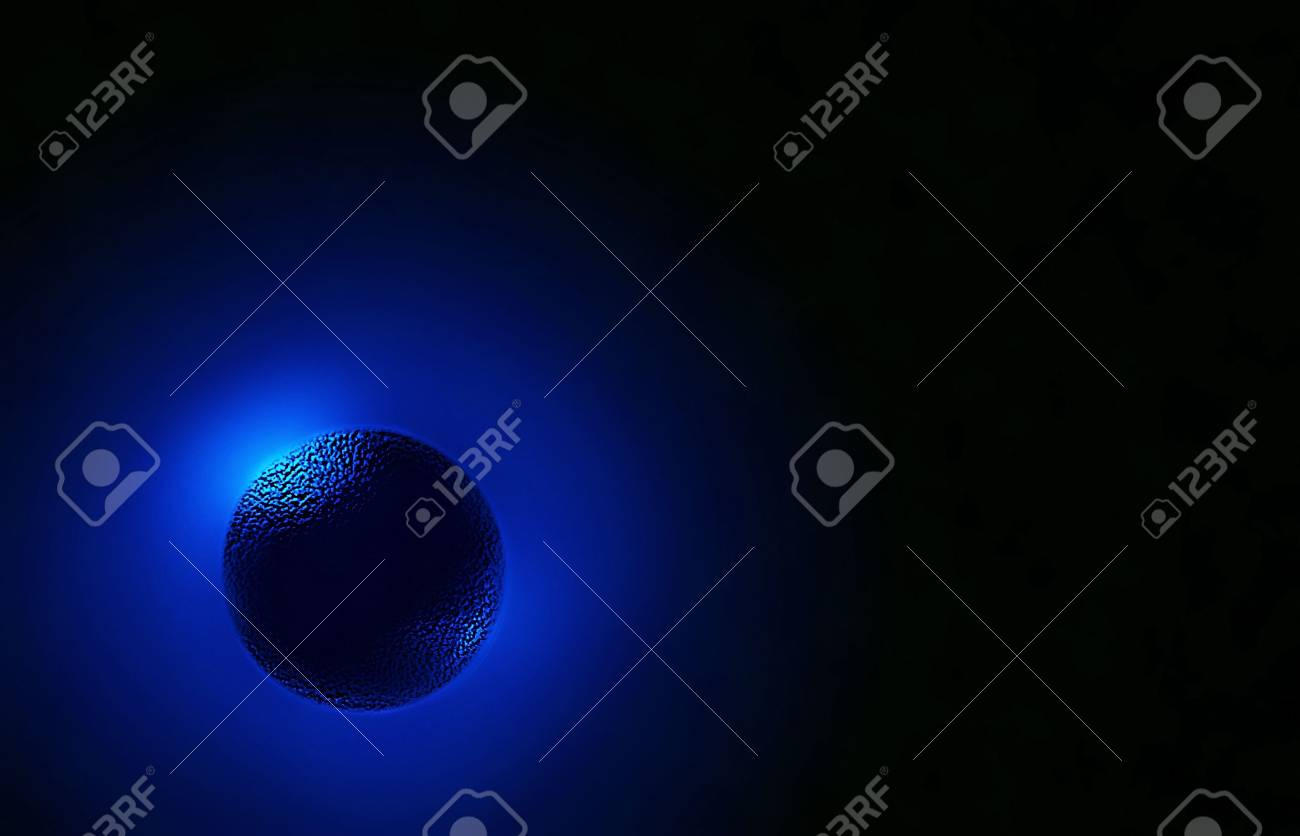 Abstract Blue Planet and Star Light behind Stock Photo - 6920432