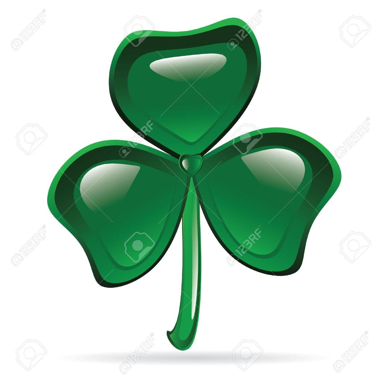 Abstract glossy shamrock. St. Patrick's Day illustration Stock Vector - 9043970