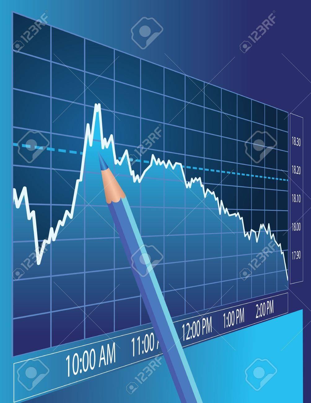 Stock market analysis. Finance concept illustration. Stock Vector - 9815643