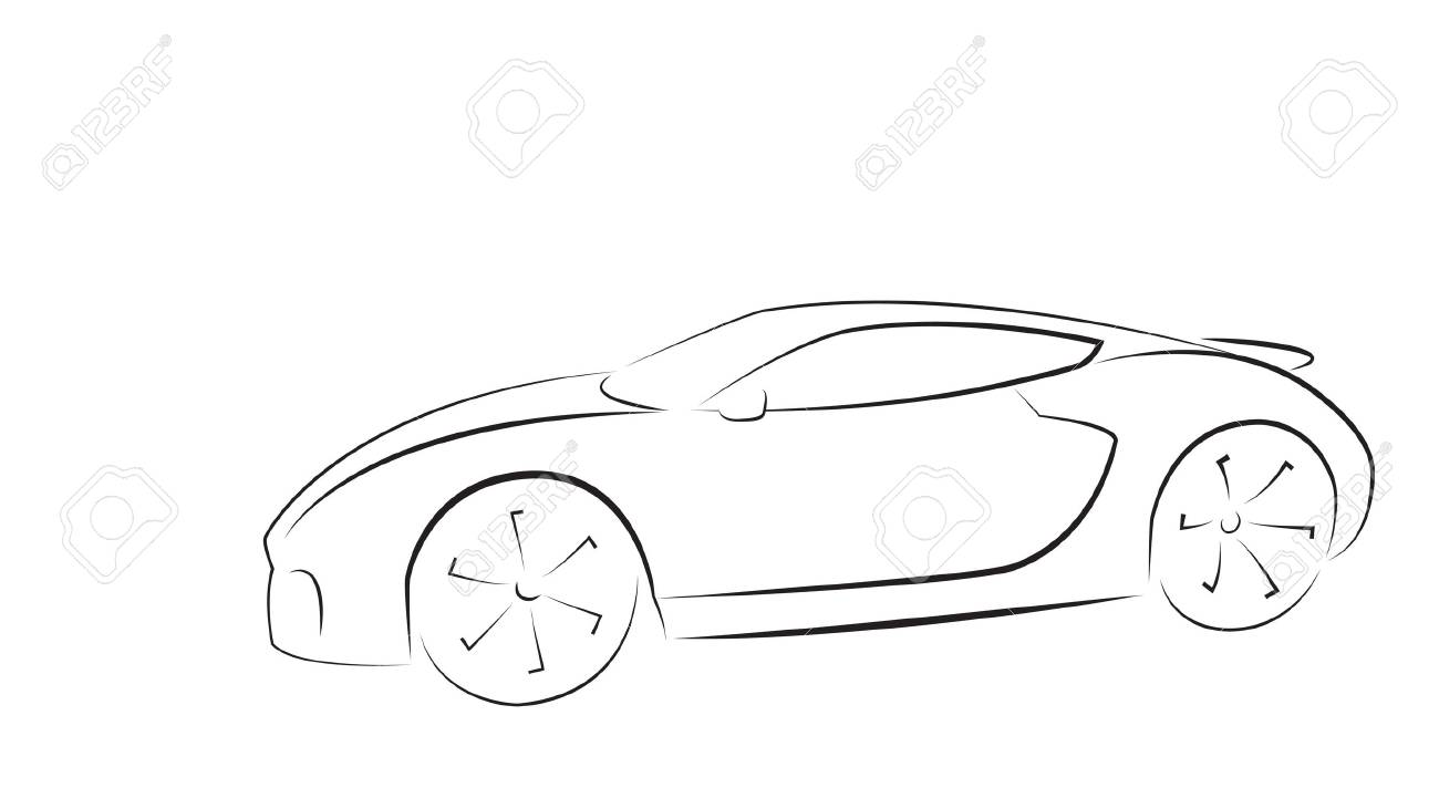 sport car silhouette vector illustration royalty free cliparts