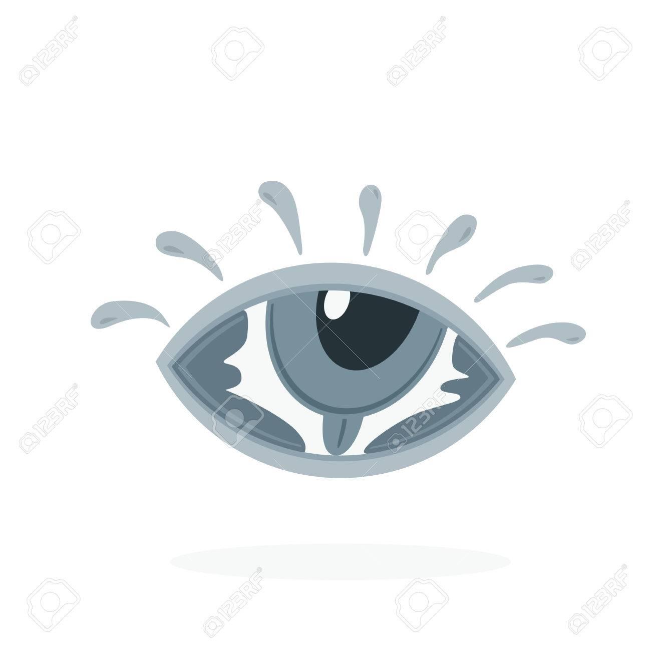 Hand Lettering Word Eye In Eye Symbol Creative Vector Design Royalty