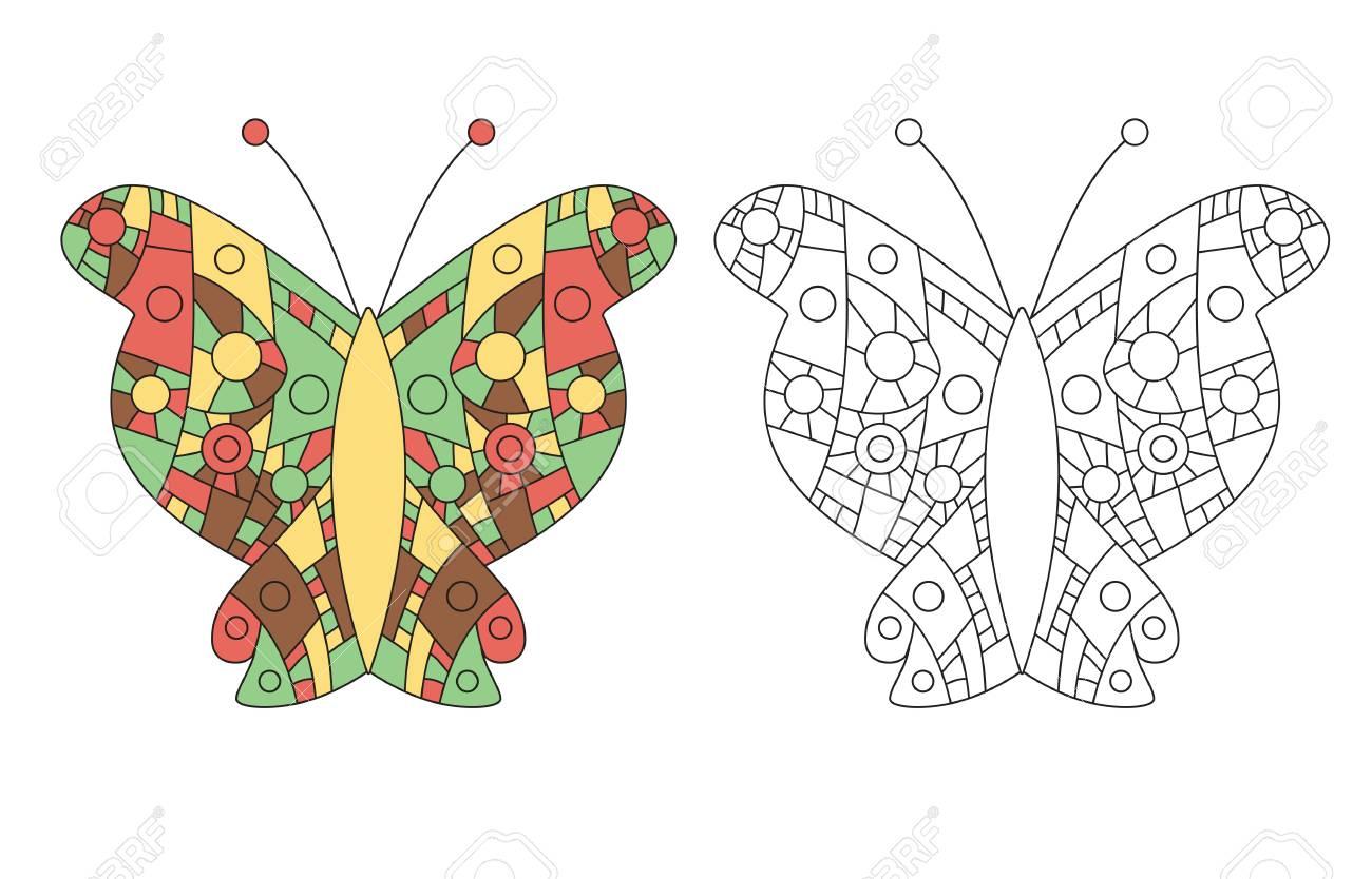Página Para Colorear Para Adultos Dibujo Antiestrés Zentangle ...
