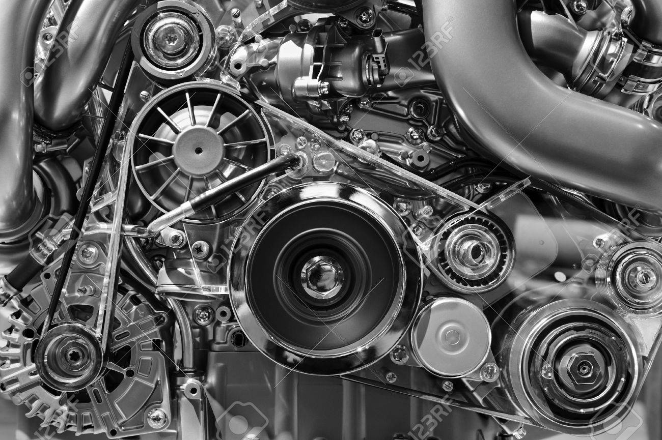 Car Engine Concept Of Modern Vehicle Motor With Metal Chrome Stock Photo Picture And Royalty Free Image Image 73529875