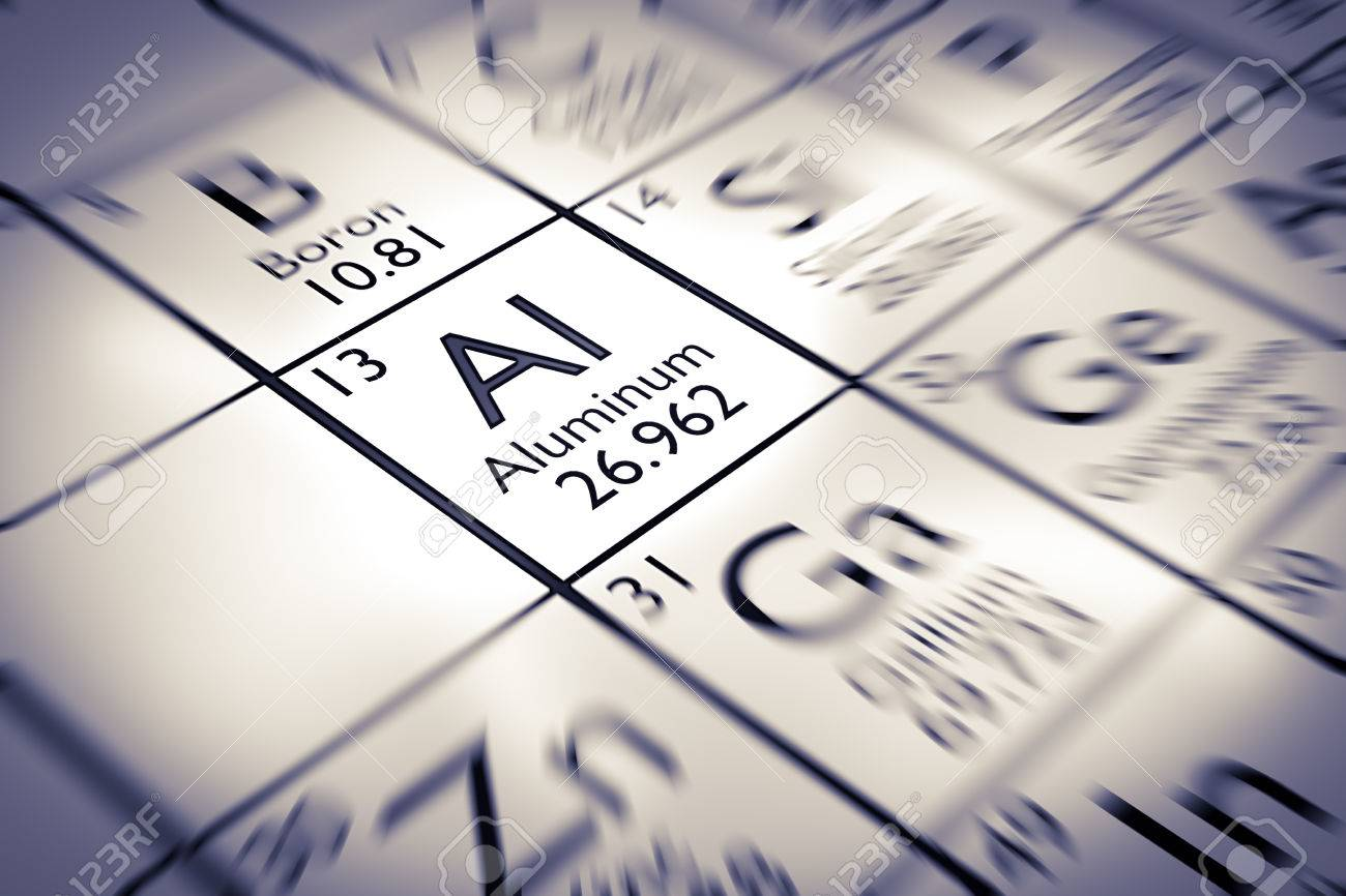 Centrarse en un elemento qumico de aluminio de la tabla peridica centrarse en un elemento qumico de aluminio de la tabla peridica de mendeleiev foto de archivo urtaz Choice Image