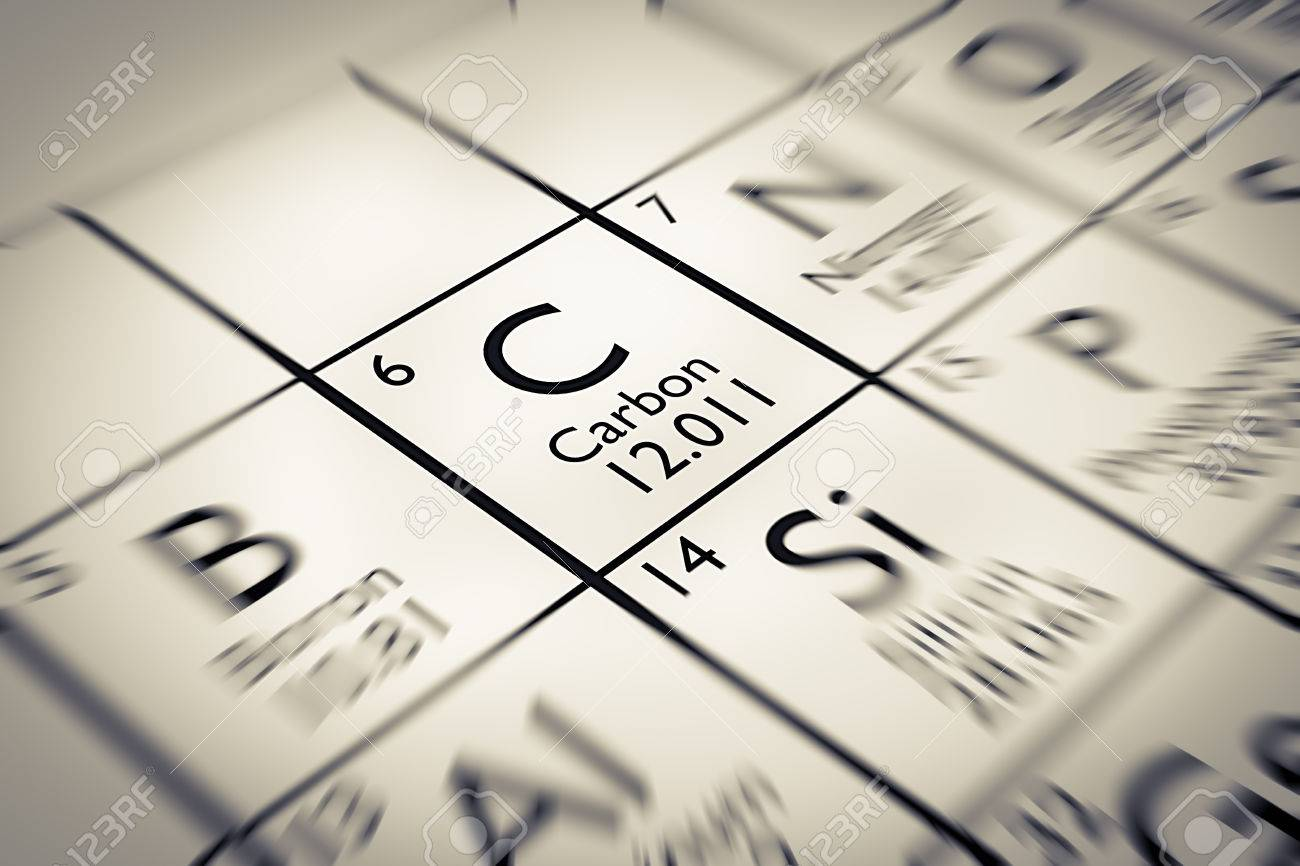 focus on carbon chemical element from the mendeleev periodic table stock photo 61258995 - Mendeleev Periodic Table Atomic Number