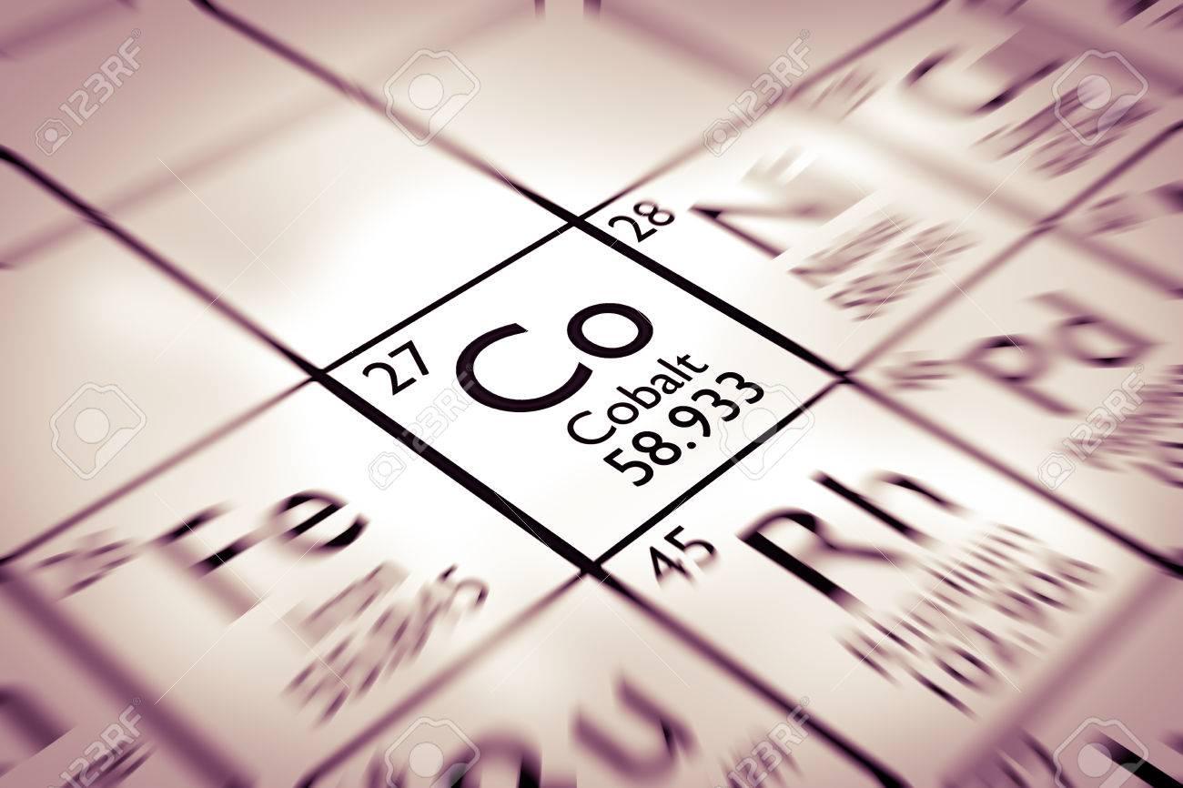 Centrarse en cobalto elemento qumico de la tabla peridica de centrarse en cobalto elemento qumico de la tabla peridica de mendeleiev foto de archivo 61258999 urtaz Choice Image