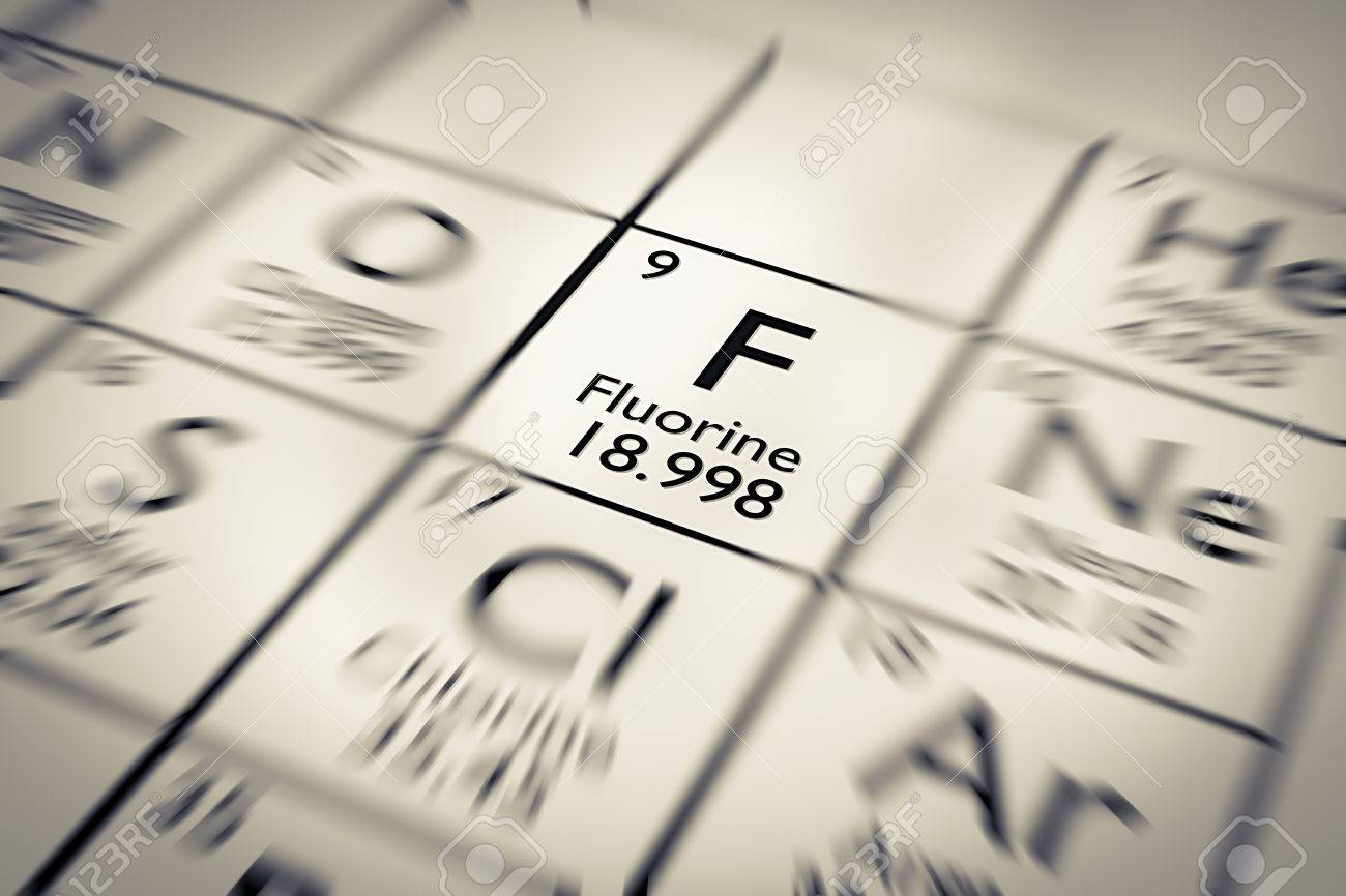 focus on fluorine chemical element from the mendeleev periodic table stock photo 61259002 - Mendeleev Periodic Table Atomic Number