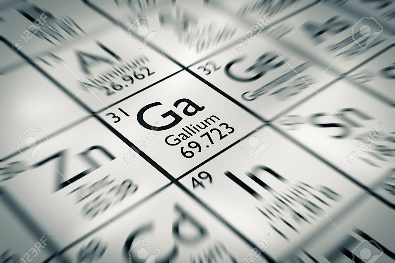 focus on gallium chemical element from the mendeleev periodic table stock photo 61258939 - Mendeleev Periodic Table Atomic Number