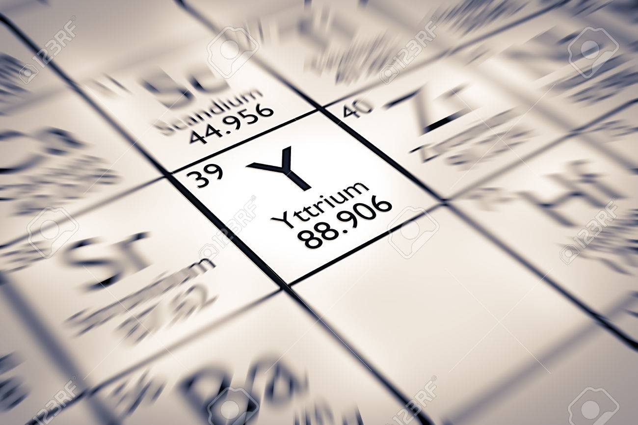 Focus On Yttrium Chemical Element From The Mendeleev Periodic