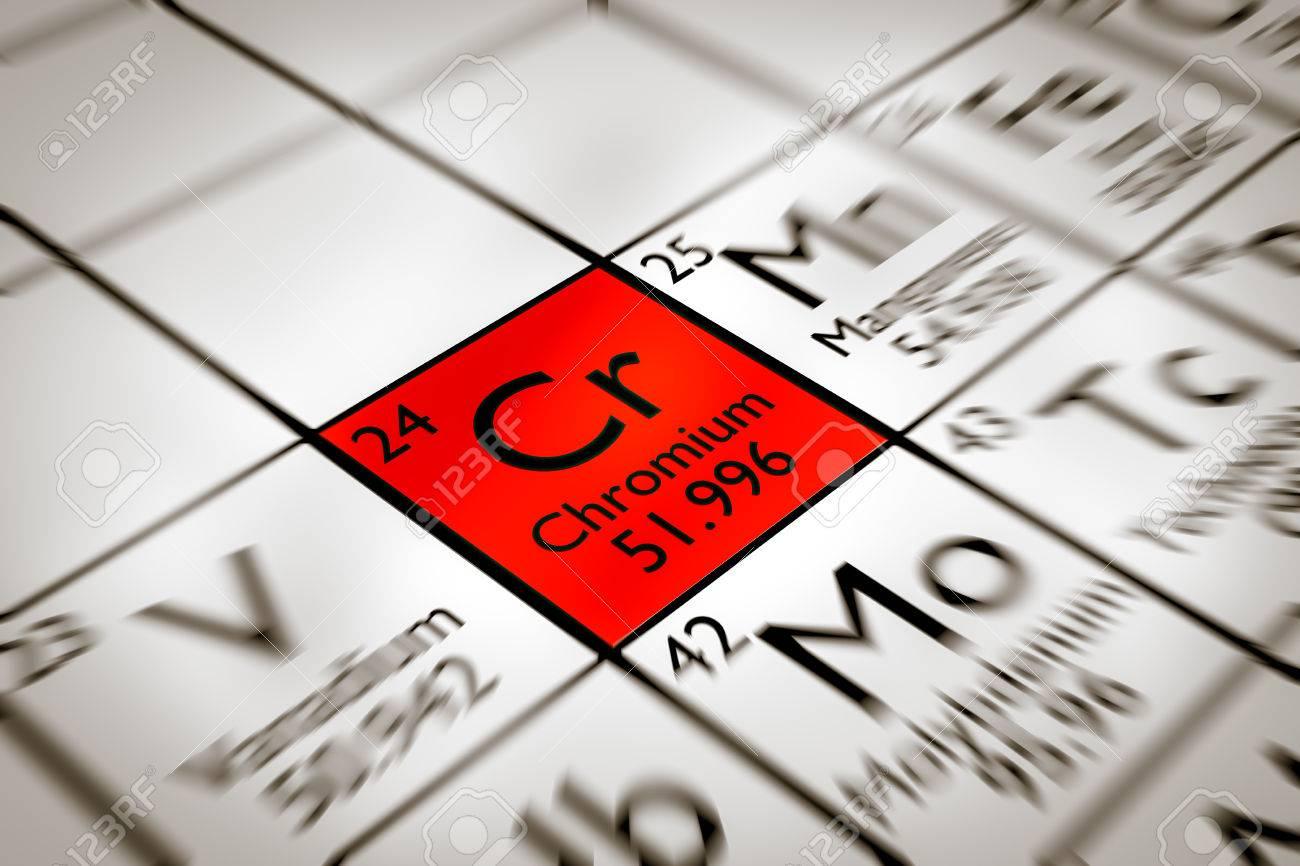 Centrarse en cromo elemento qumico prohibido de la tabla centrarse en cromo elemento qumico prohibido de la tabla peridica de mendeleiev foto de archivo urtaz Choice Image