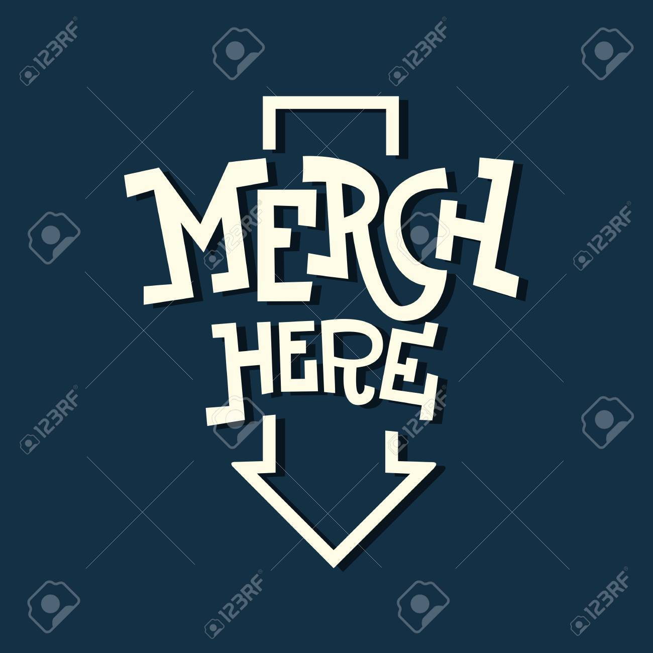 Merch Here Funny Artistic Sign Slab Serif Lettering With An Arro - 72095679