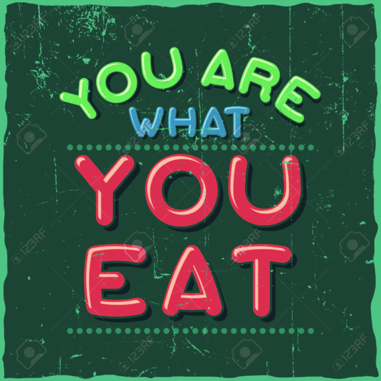 Motivational Poster You Are What You Eat Inspirational Quote