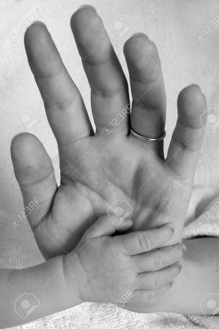 baby and mother's hand Stock Photo - 1133394