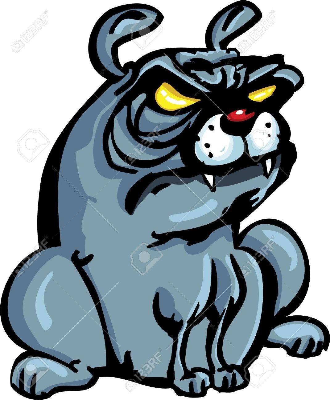 Cartoon Bulldog isoated on white Stock Vector - 9232580