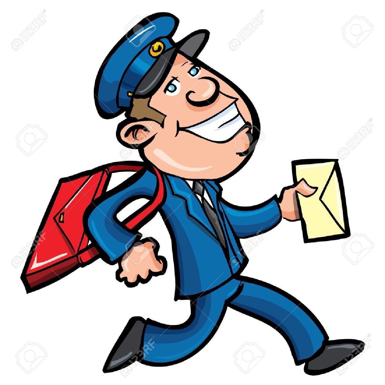 17 955 mail man stock vector illustration and royalty free mail man