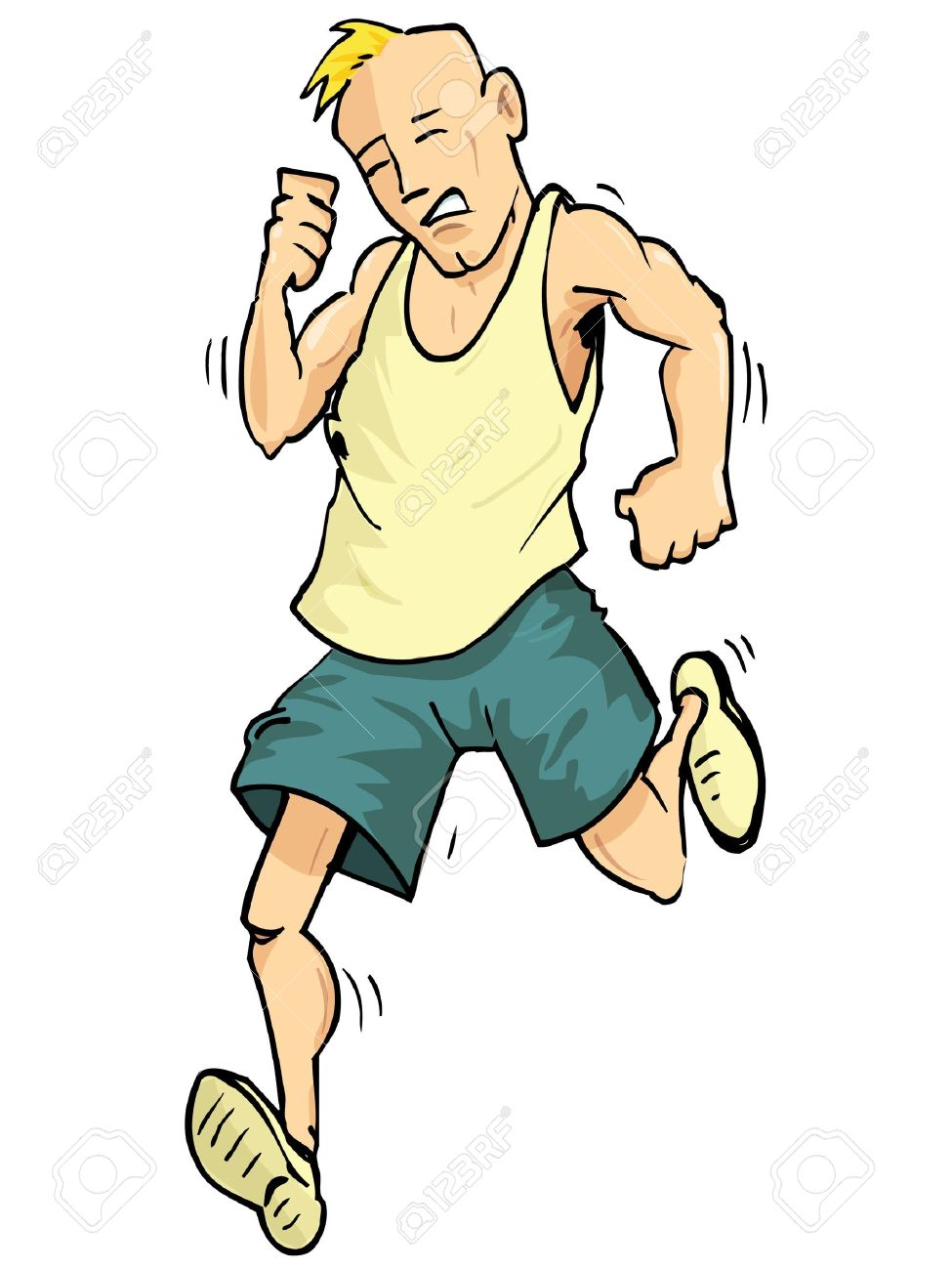 cartoon of a running man isolated on white royalty free cliparts rh 123rf com cartoon person running fast cartoon person running fast