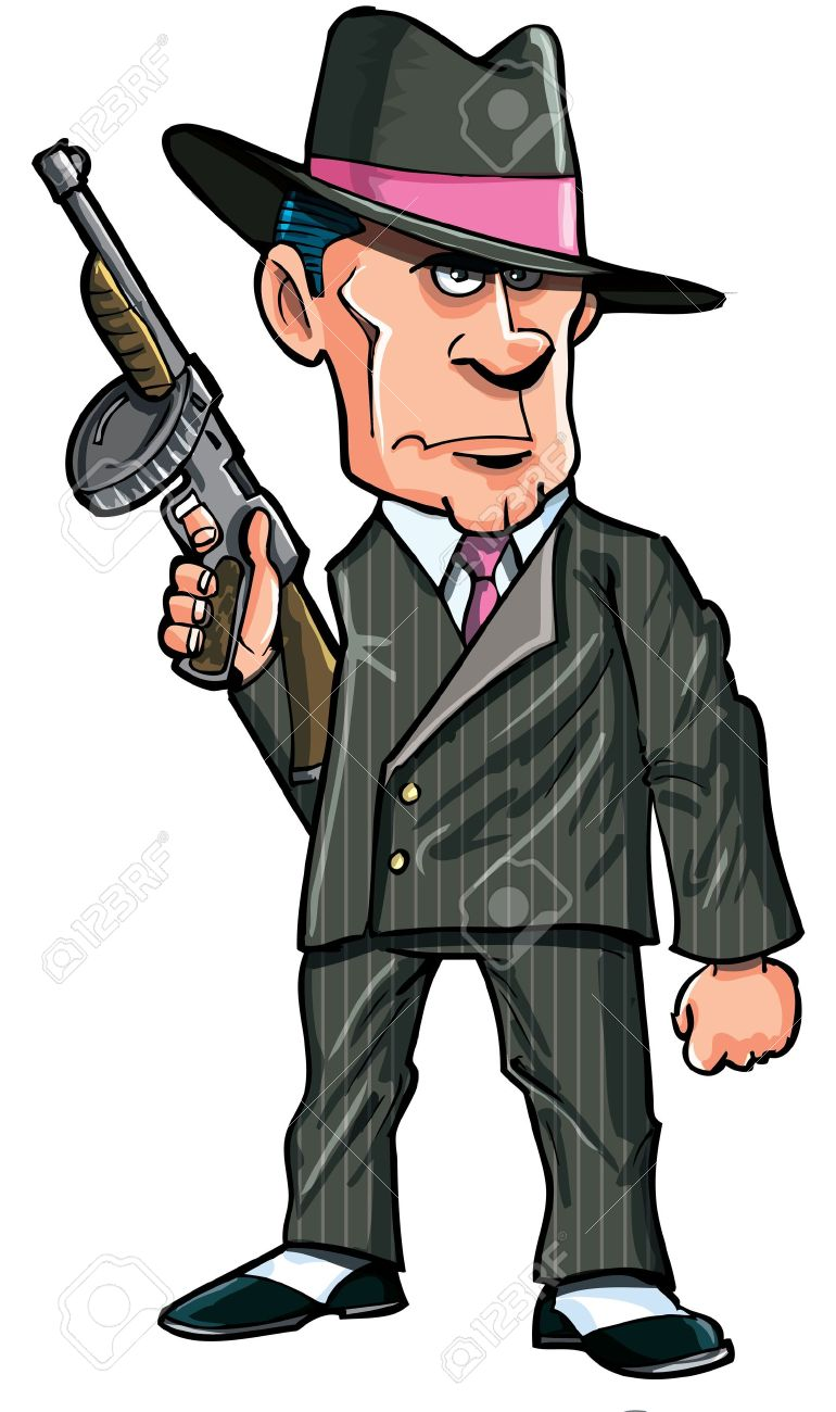 cartoon 1920 gangster with a machine gun isolated royalty free rh 123rf com gangster cartoon maker gangster cartoon coloring pages