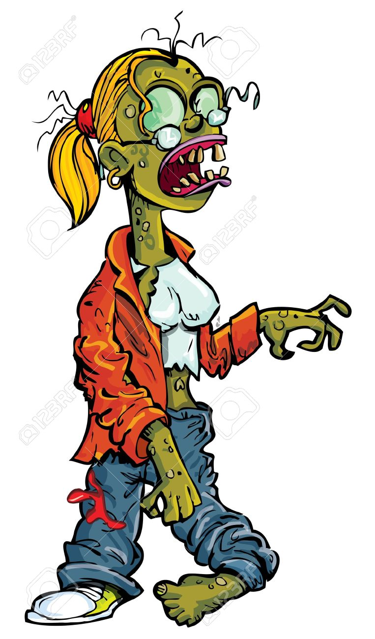 Cartoon zombie woman naked picture