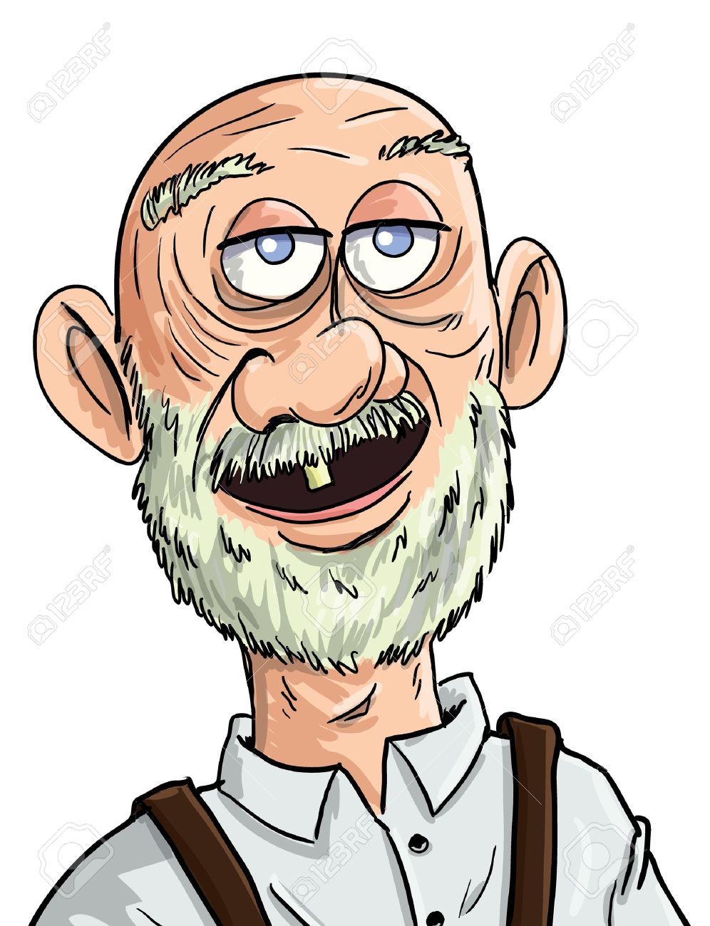Cartoon Old Man With One Tooth. Isolated Royalty Free Cliparts, Vectors,  And Stock Illustration. Image 14227552.