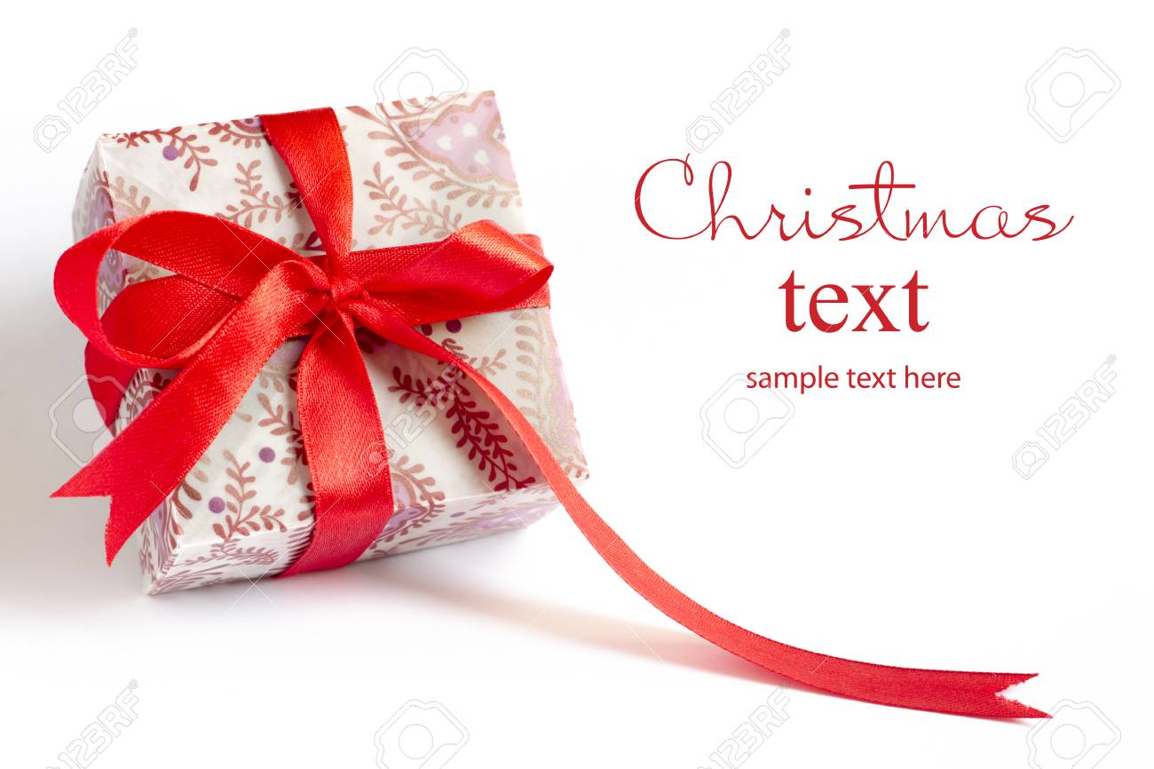 Christmas Presents Stacked Up On White Background. Stock Photo ...