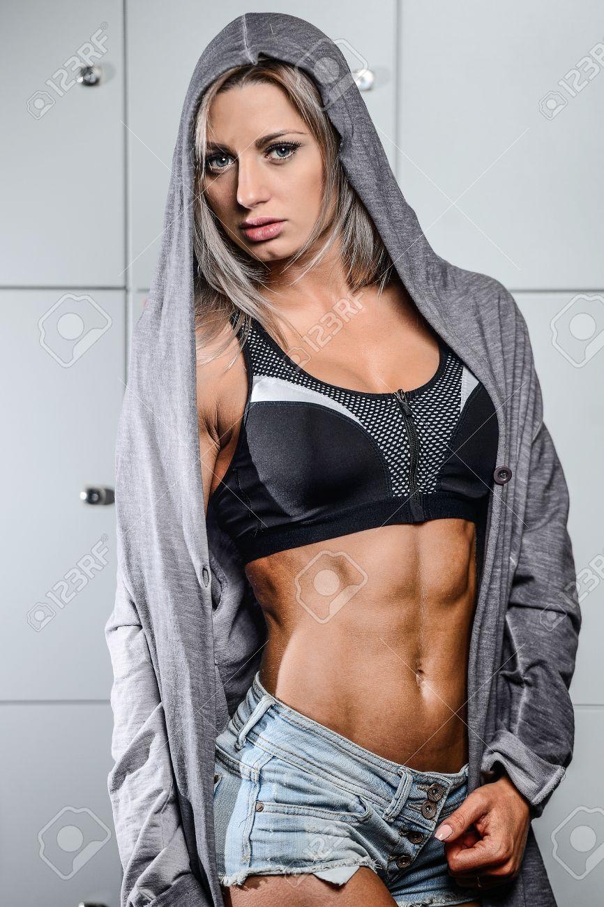Sexy Mädchen Umkleideraum