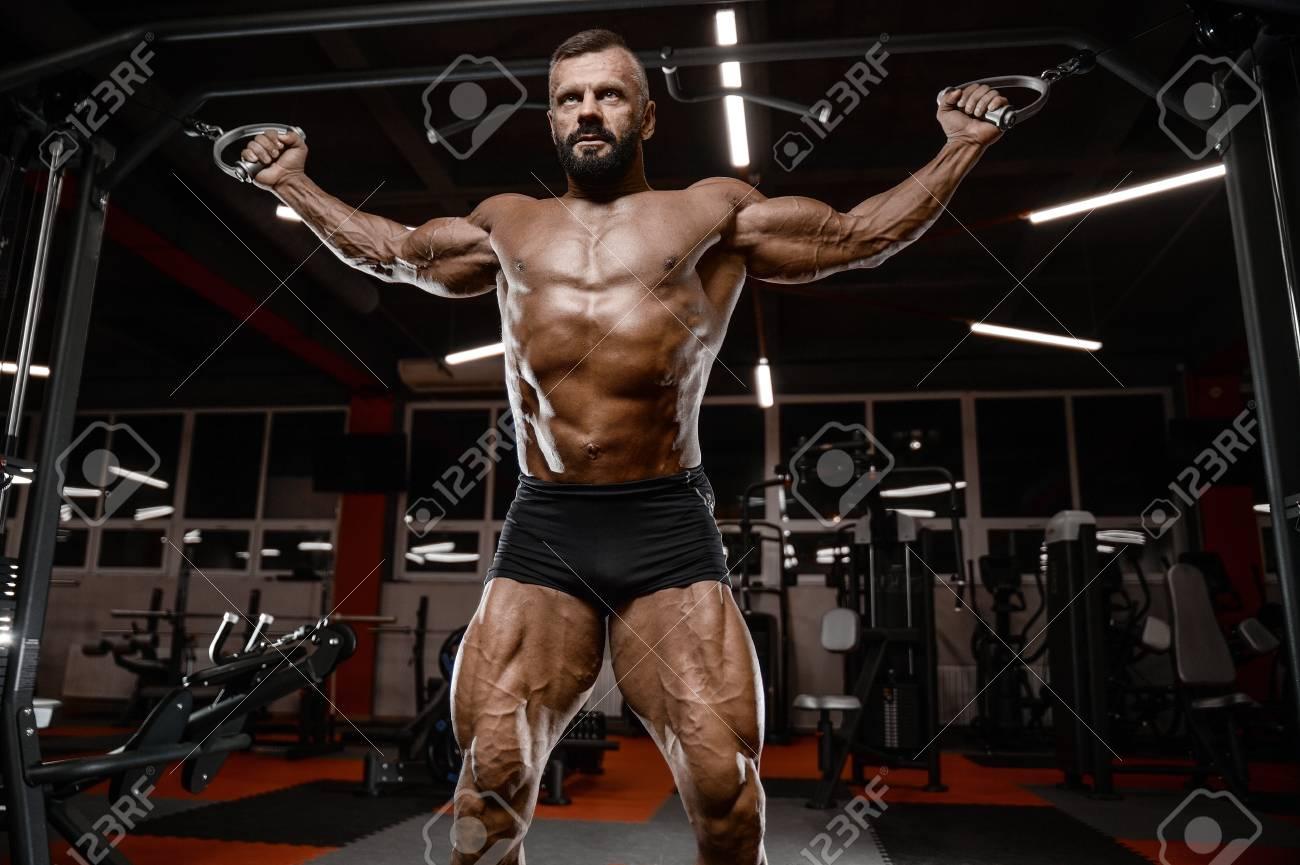Alten Brutalen Sexy Starken Bodybuilder Athletischen Fitness Mann ...