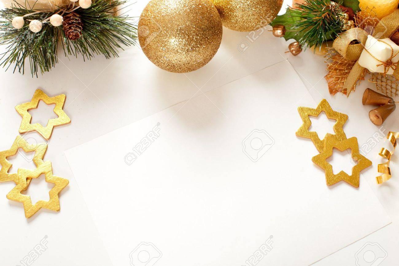 Cadre De Noël Pour Carte De Voeux Banque D'Images Et Photos Libres