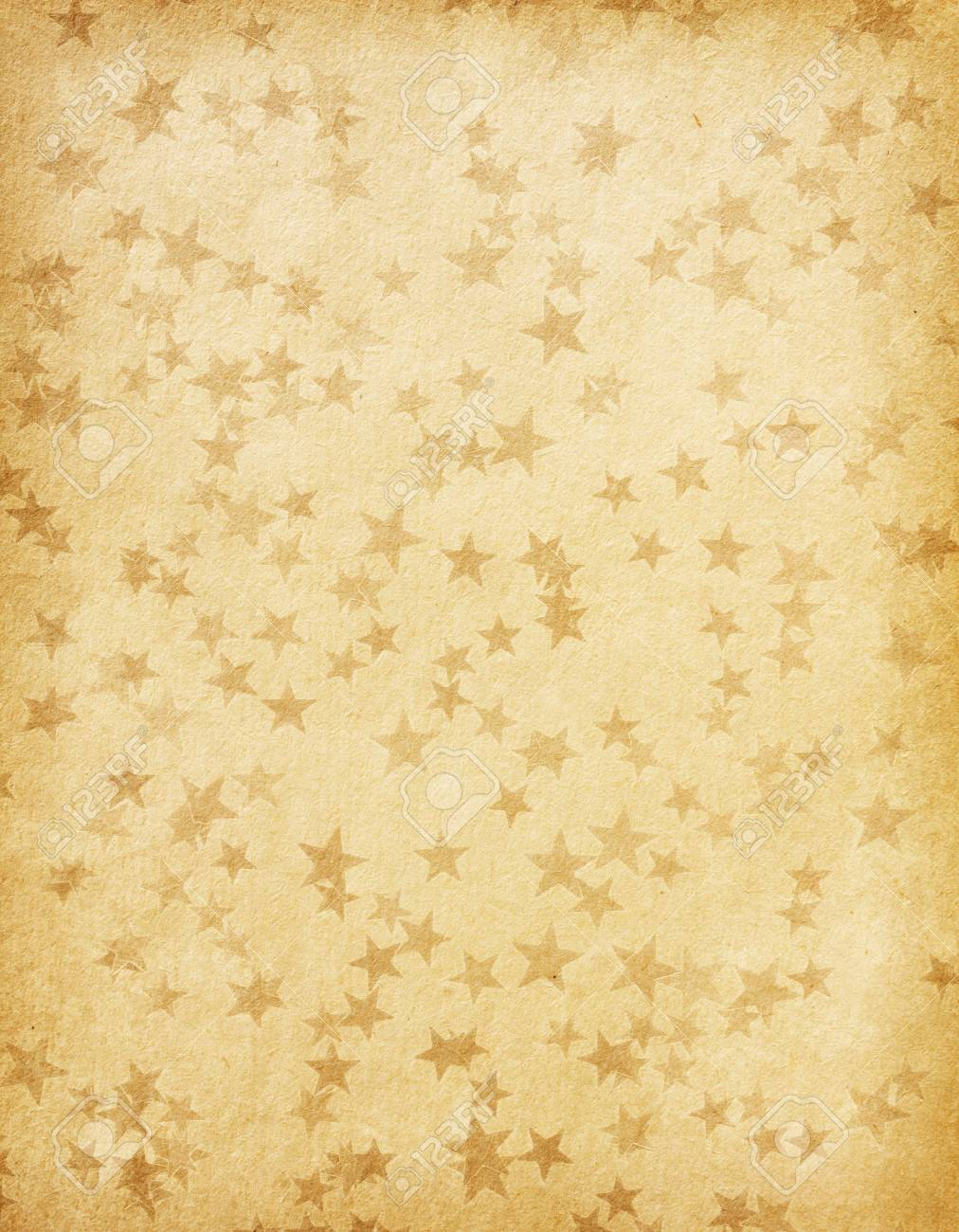 vintage paper decorated with  stars Stock Photo - 16406149