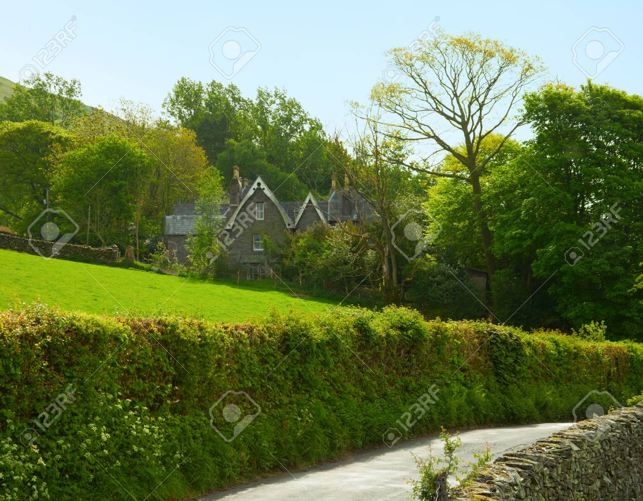 A farm  in the  Lake District National Park,  Cumbria, England, UK Stock Photo - 18990590