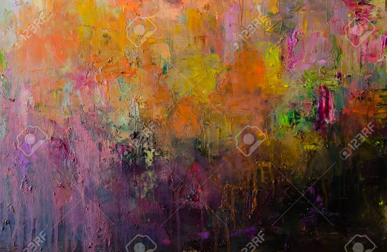 Abstract Oil Painting Background Oil On Canvas Texture Hand