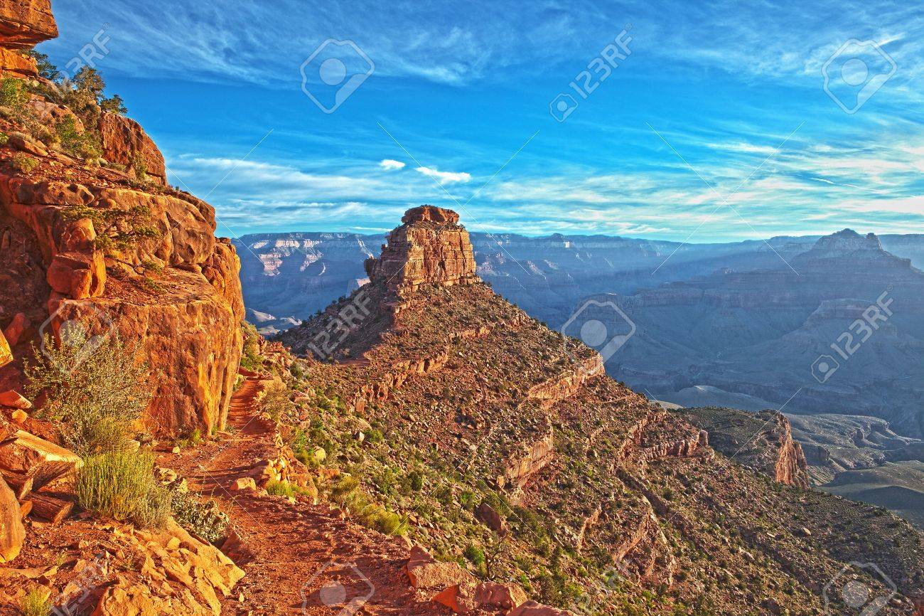 HDR shot of O'Neill Butte in Grand Canyon Stock Photo - 8250412
