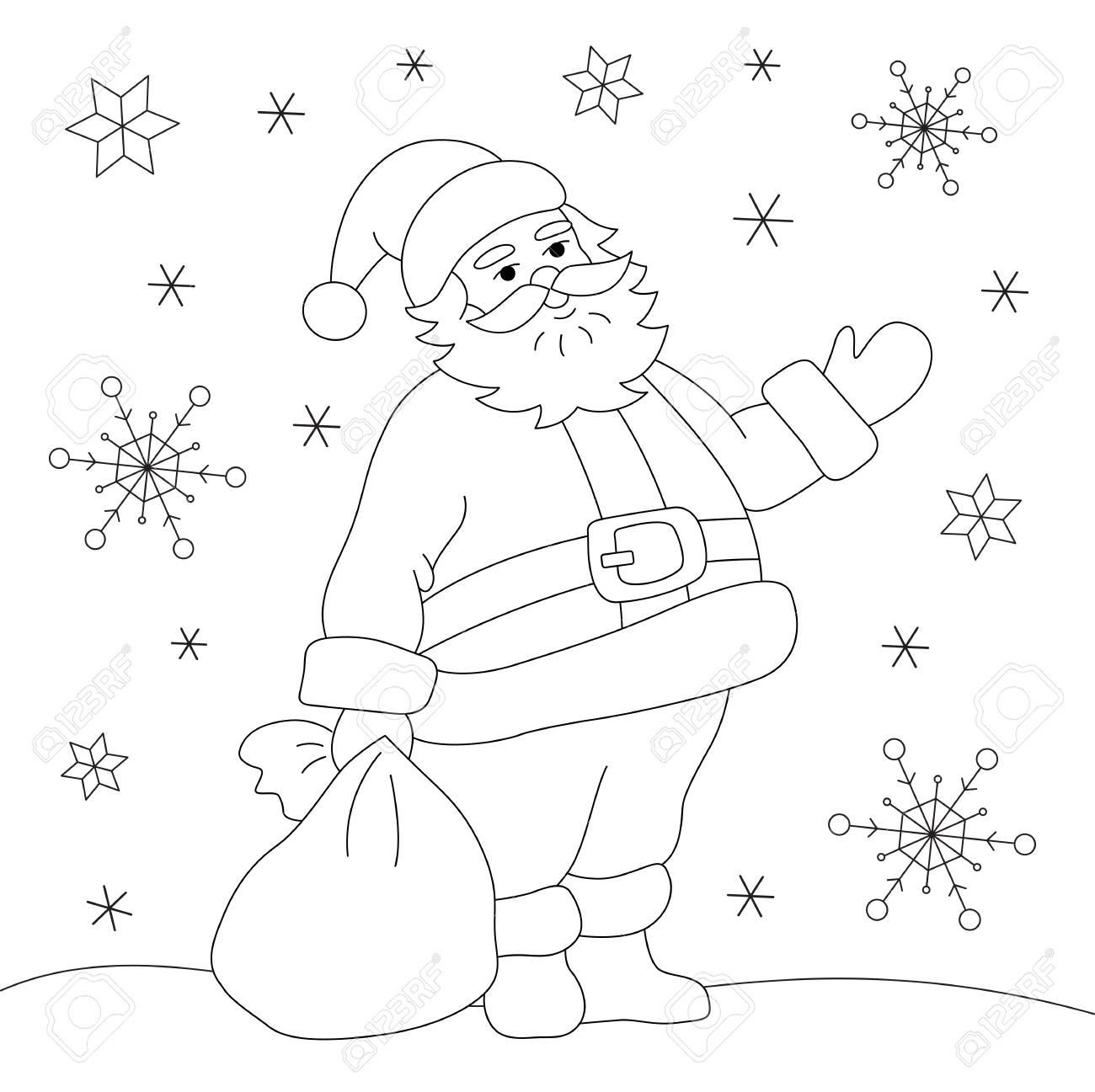 Coloring Book - Santa