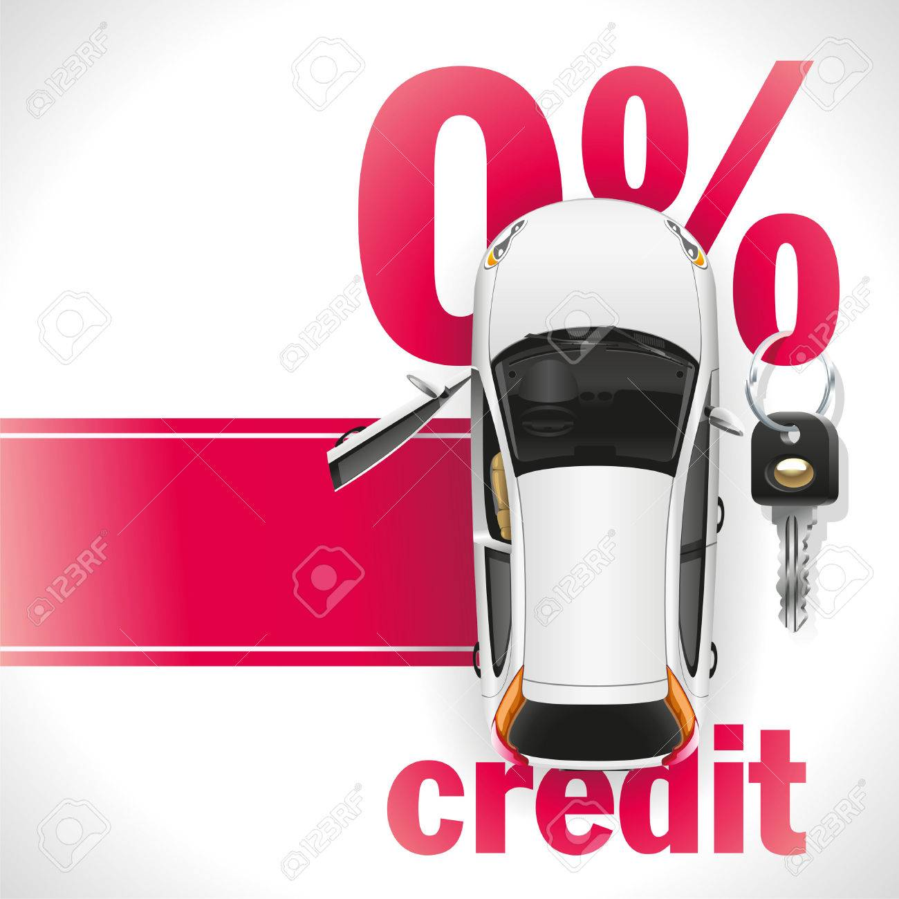 open front door clipart. new white car with open front door standing on the red carpet. against background clipart