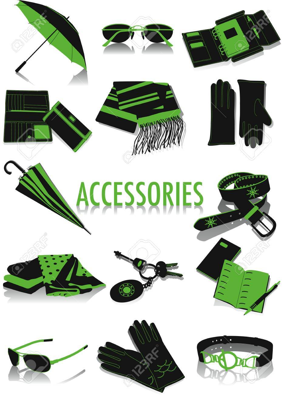 02323476294 Two-tone Vector Silhouettes Accessories