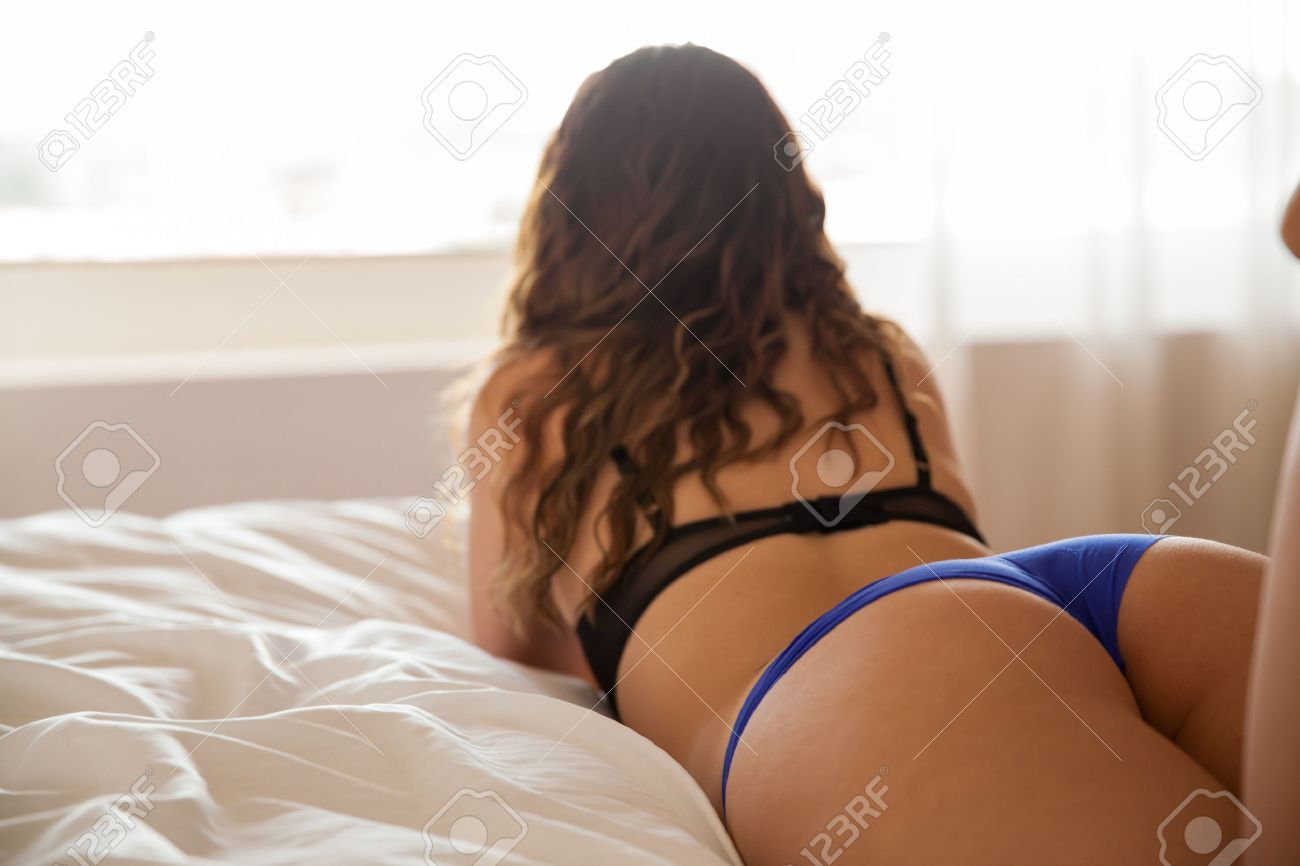 Erotic girls ass on bed