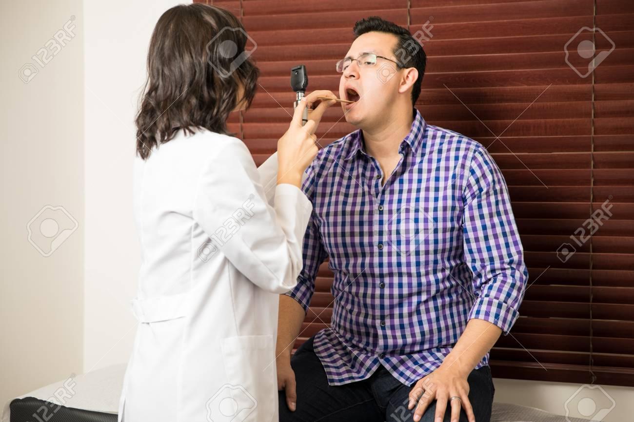 doctor examines his patient