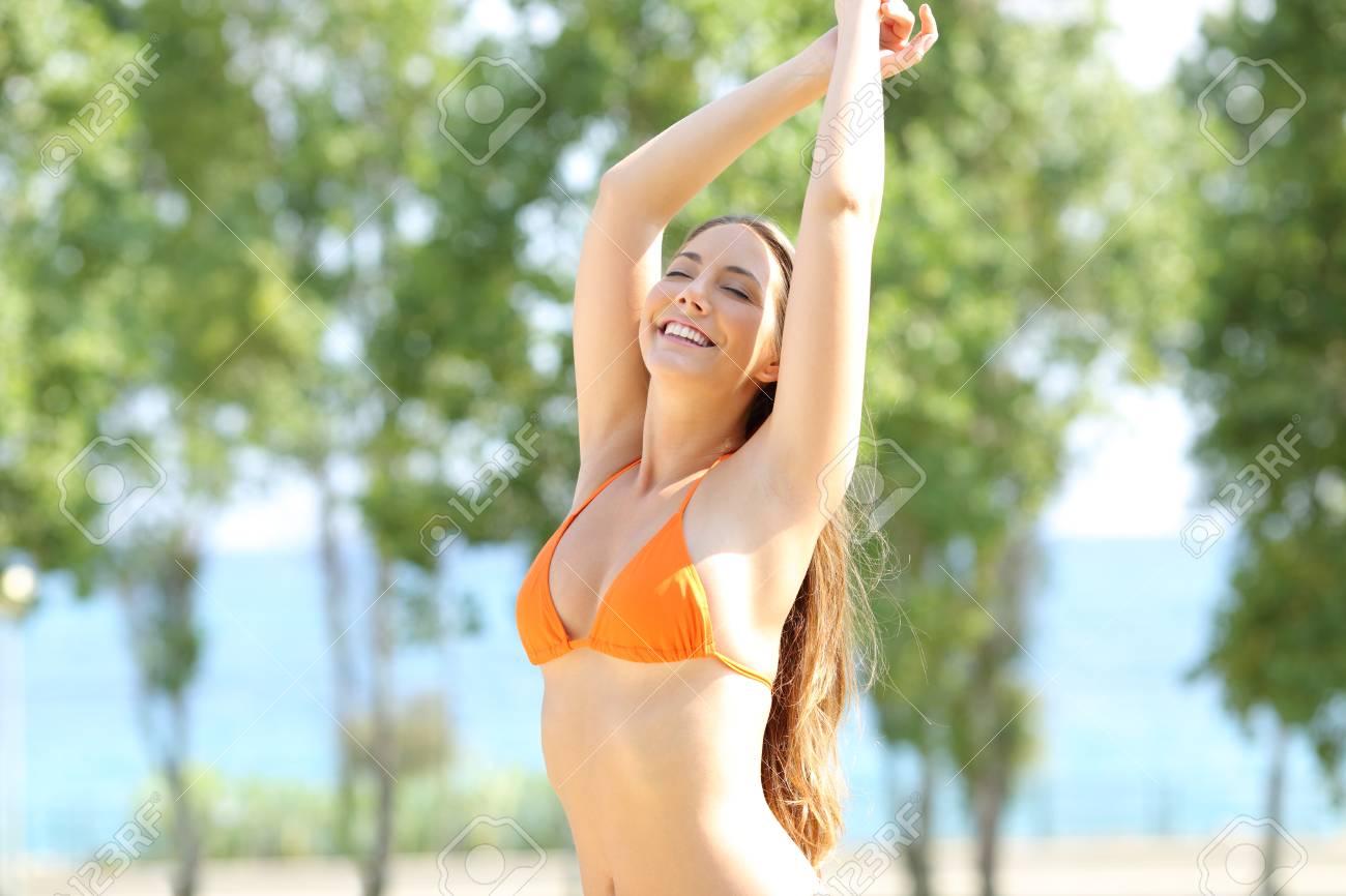 bikini model underarm