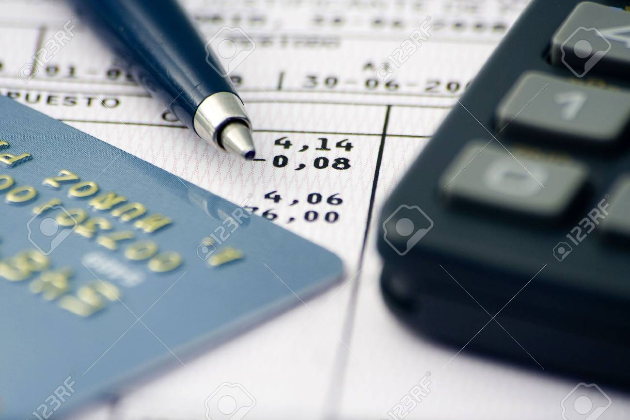 sheet accounts, notes, numbers, reports and economic data Stock Photo - 3411484