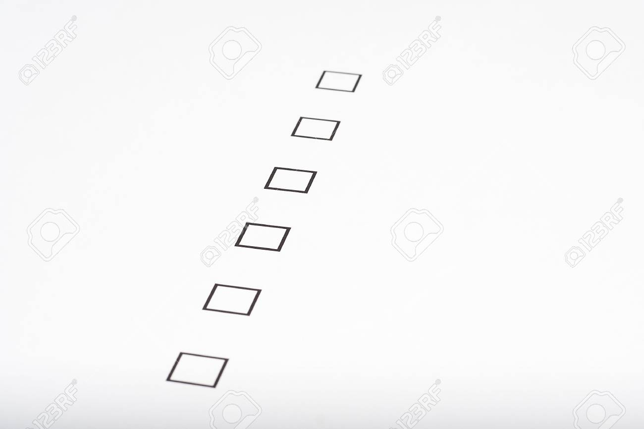 checklist form Stock Photo - 3713581