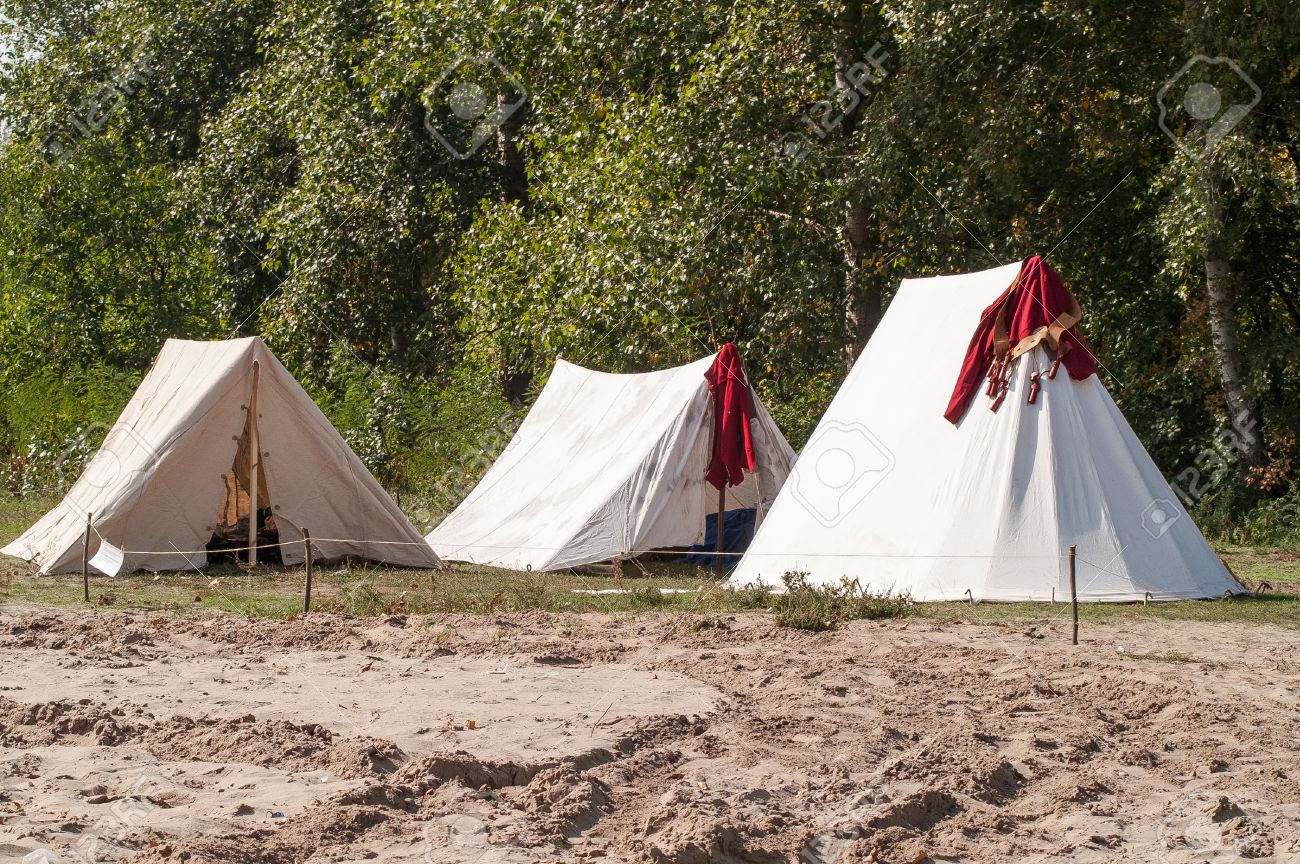 historic medieval holstyanoy a cloth tent reconstruction holiday Stock Photo - 50681882 & Historic Medieval Holstyanoy A Cloth Tent Reconstruction Holiday ...