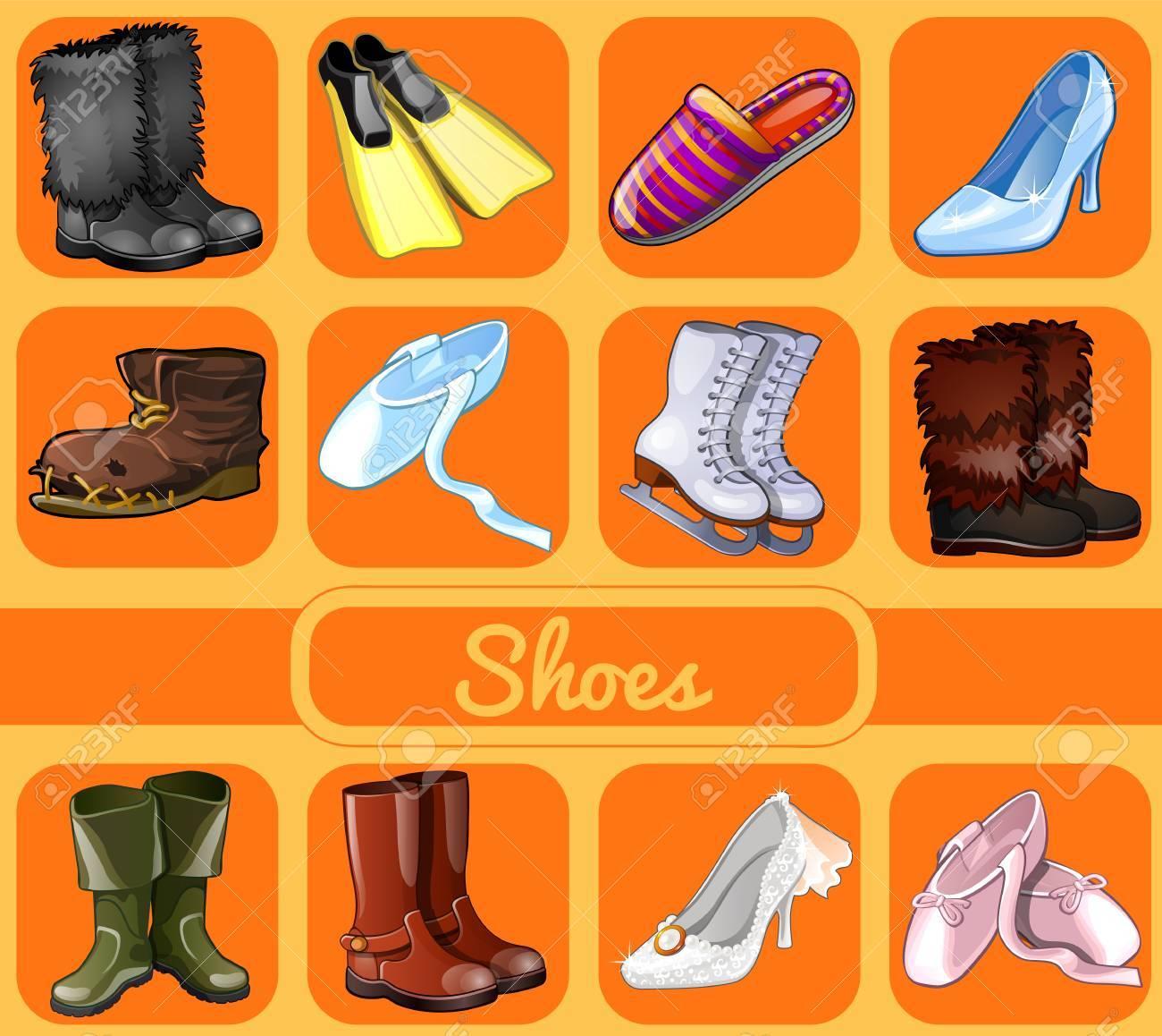 Archivio Fotografico - Set di scarpe per tutte le stagioni e le occasioni 5d2d3a8e8e0